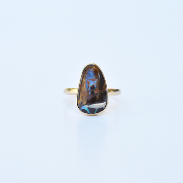 Boulder Opal Ring in Gold - Goldmakers Fine Jewelry