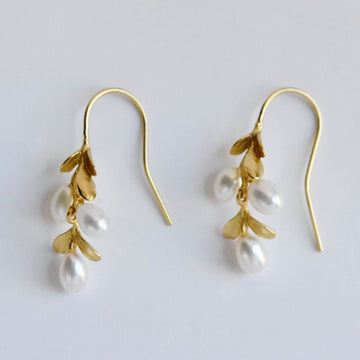 Boxwood Gold Vermeil Earrings - Goldmakers Fine Jewelry