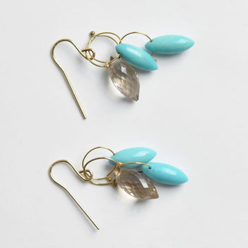 Turquoise Briolette French Wire Earrings - Goldmakers Fine Jewelry