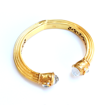Byzantine Gold And Moonstone Cuff - Goldmakers Fine Jewelry