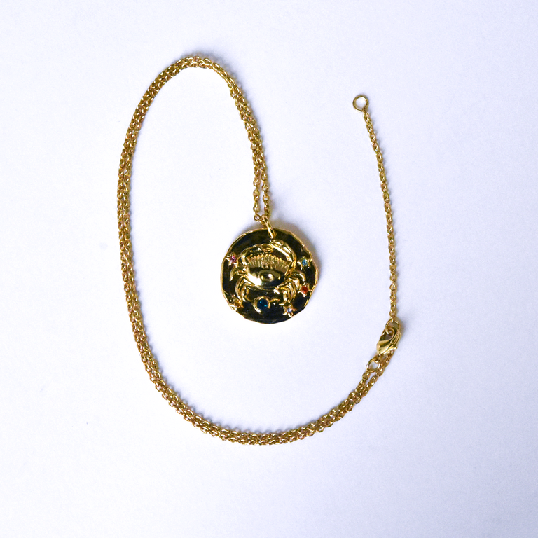 Cancer Coin Necklace - Goldmakers Fine Jewelry