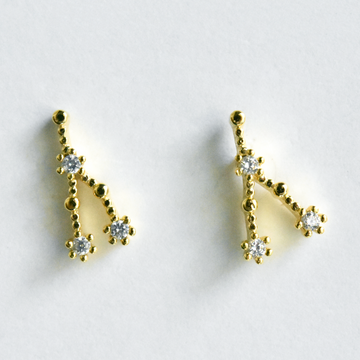 Cancer Constellation Post Earrings - Goldmakers Fine Jewelry