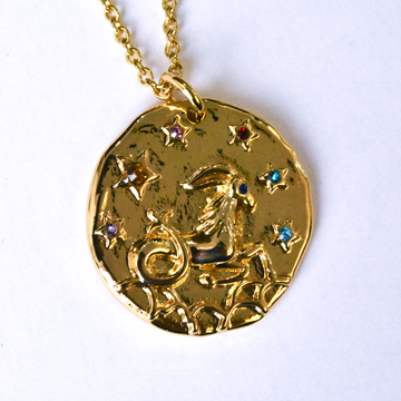Capricorn Coin Necklace - Goldmakers Fine Jewelry