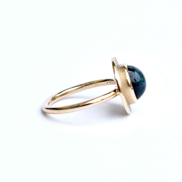 Cats Eye Tourmaline Ring in Gold - Goldmakers Fine Jewelry