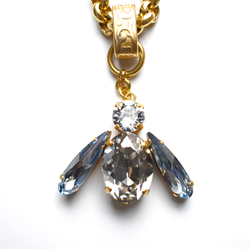 Clear Bee Necklace - Goldmakers Fine Jewelry