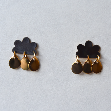 Cloud Post Earrings - Goldmakers Fine Jewelry