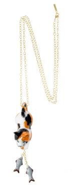 Fishing Calico Pendant Necklace - Goldmakers Fine Jewelry