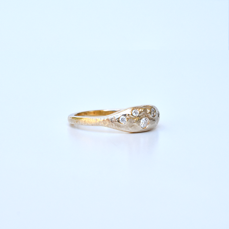 Constellation Band in Yellow Gold with Diamonds - Goldmakers Fine Jewelry