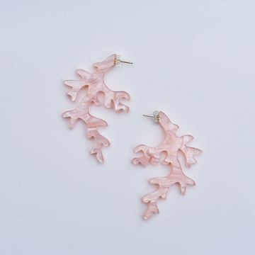 Coral Post Earrings in Rose - Goldmakers Fine Jewelry