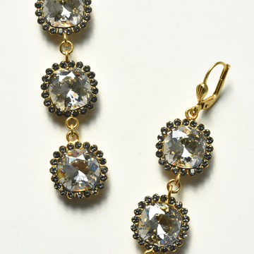 Crystal Drop Earrings - Goldmakers Fine Jewelry