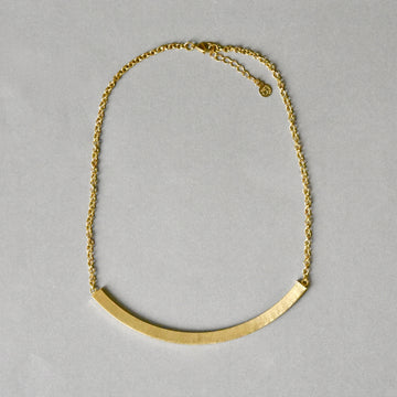 Arc Collar Necklace in Gold