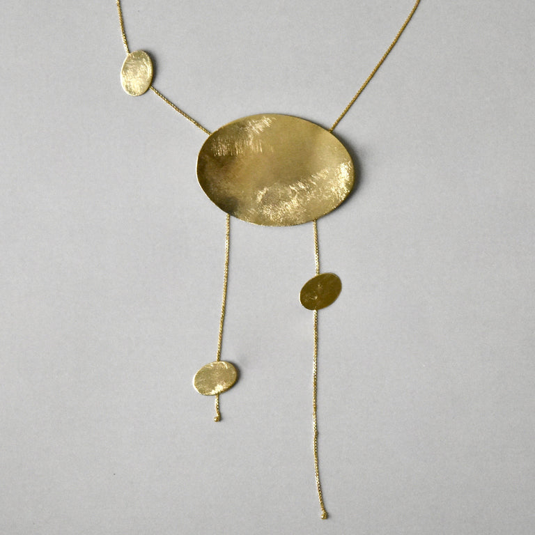 Sun Disc Necklace in Gold