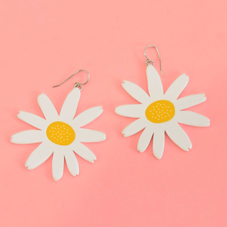 Daisy French Wire Earrings - Goldmakers Fine Jewelry