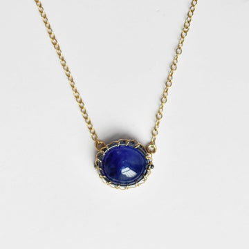 Sapphire Pendant Necklace in Gold Vermeil - Goldmakers Fine Jewelry