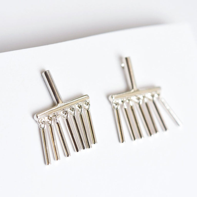 Felina Earrings Silver - Goldmakers Fine Jewelry