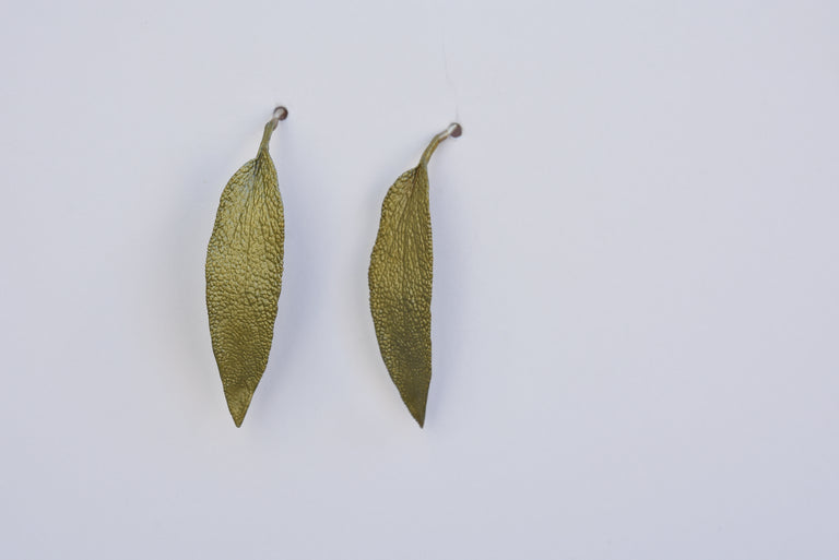 Sage French Ear Wire Earrings - Goldmakers Fine Jewelry