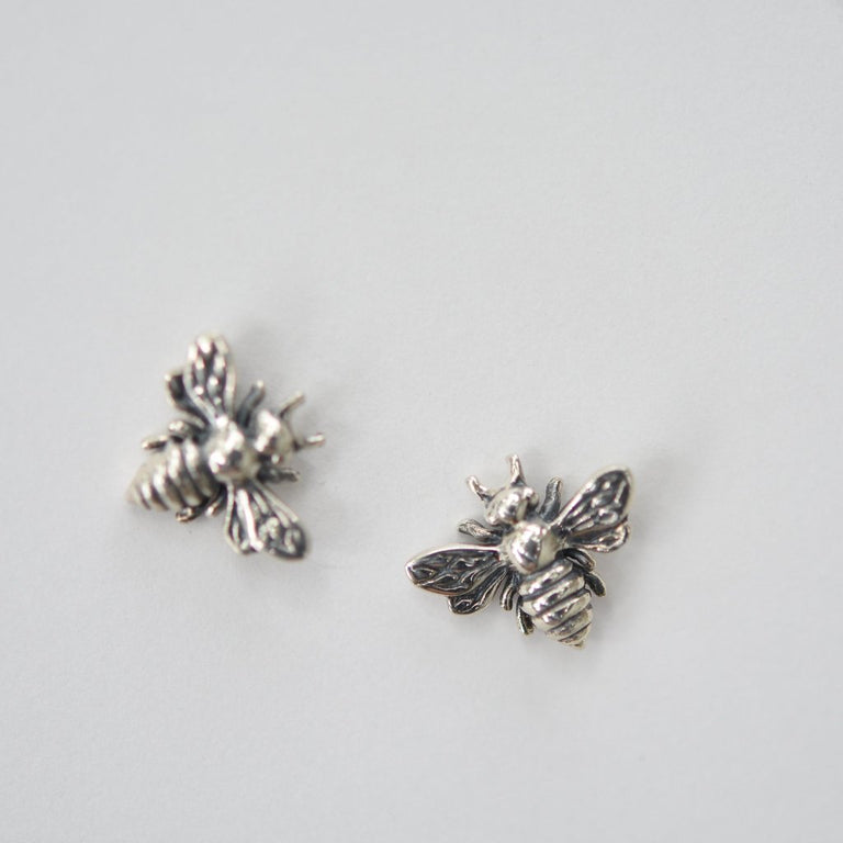 Bee Stud Earrings - Goldmakers Fine Jewelry