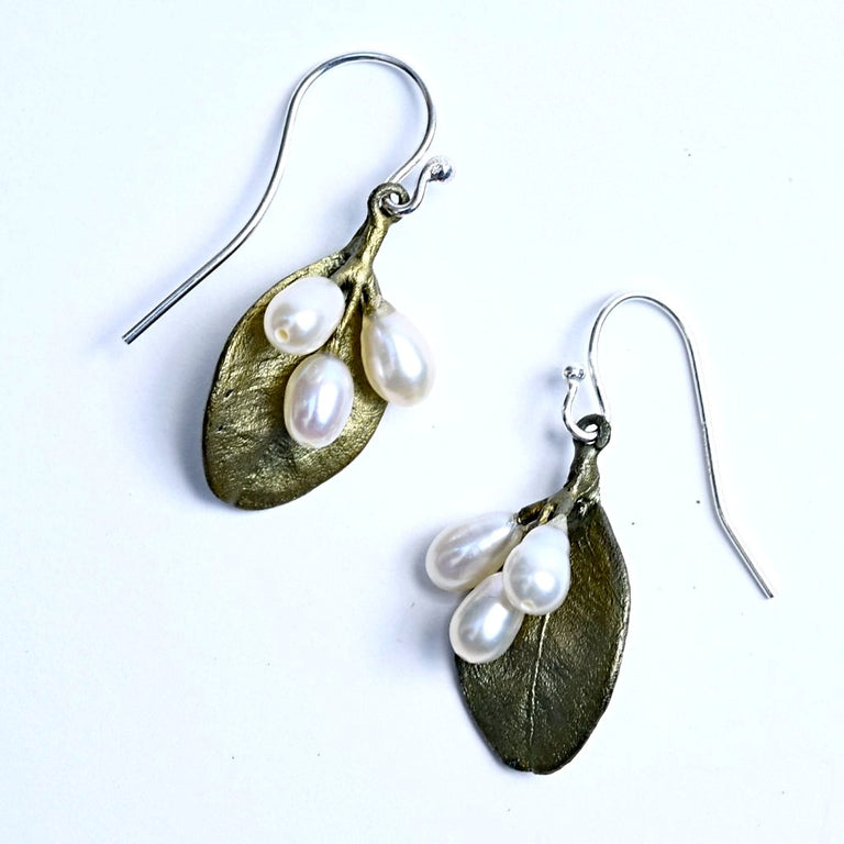 Boxwood Wire Drop Earrings - Goldmakers Fine Jewelry