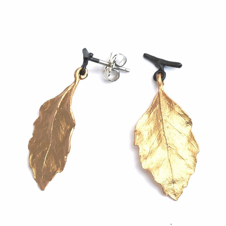 Autumn Birch Post Earrings - Goldmakers Fine Jewelry