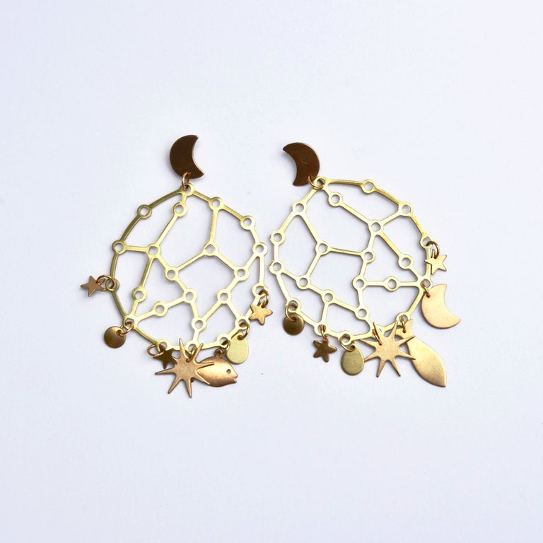 Star Chart Earrings - Goldmakers Fine Jewelry