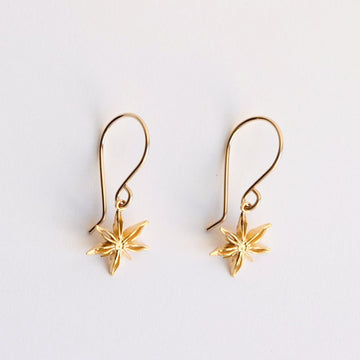 Mini Star Anise Drop Earrings - Goldmakers Fine Jewelry