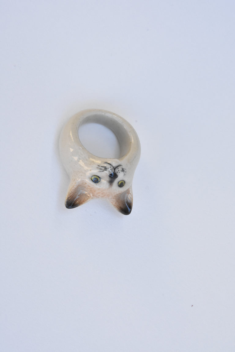 Siamese Cat Ring - Goldmakers Fine Jewelry