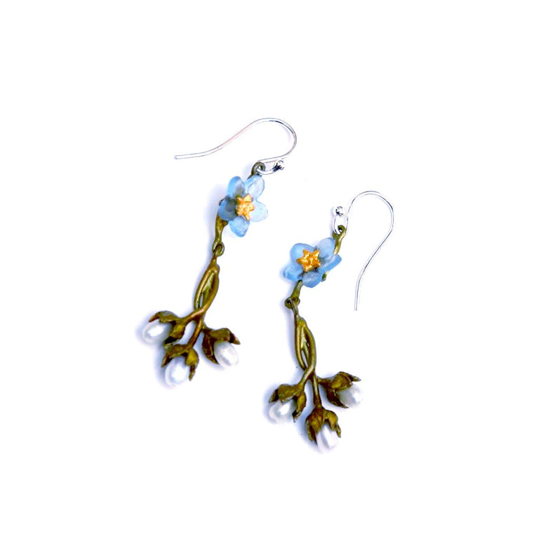 Forget Me Not Drop Earrings - Goldmakers Fine Jewelry