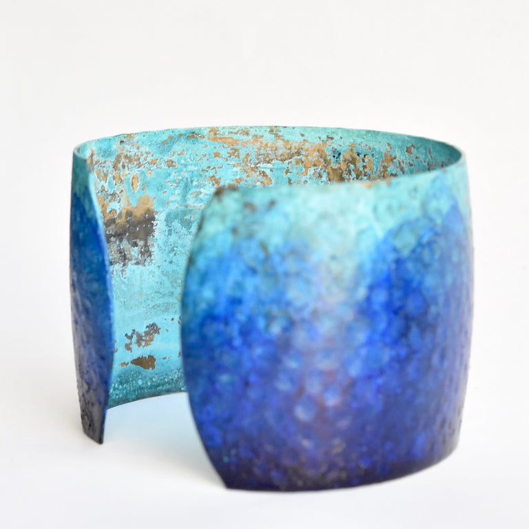 Deep Blue Sea Cuff - Goldmakers Fine Jewelry