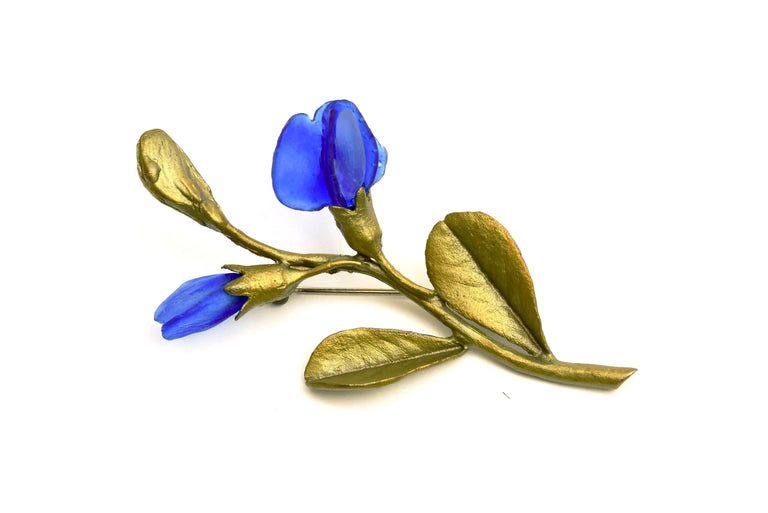 False Indigo Brooch - Goldmakers Fine Jewelry