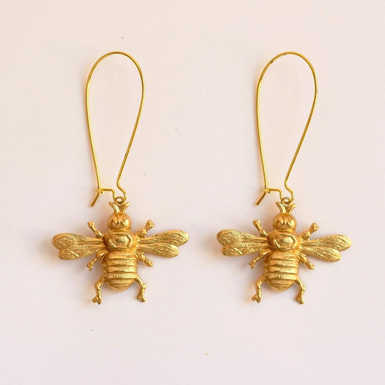 Oxbow Bee Earrings - Goldmakers Fine Jewelry