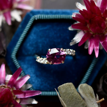 Rhodalite Garnet and Diamond Gold Cocktail Ring - Goldmakers Fine Jewelry