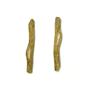 Tide Earrings in Brass - Goldmakers Fine Jewelry