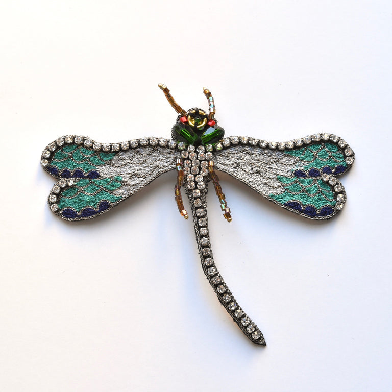 Mint Dragonfly Brooch - Goldmakers Fine Jewelry