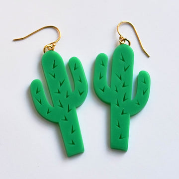 Cactus French Wire Earrings - Goldmakers Fine Jewelry