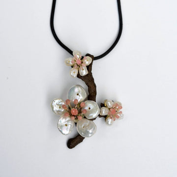 Cherry Blossom Pendant Necklace - Goldmakers Fine Jewelry
