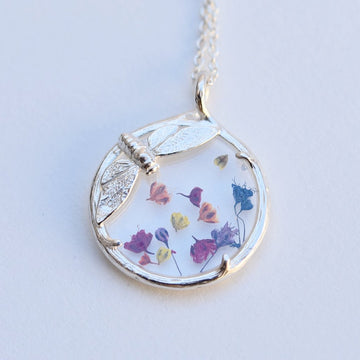 Spring Botanical Cicada Necklace - Goldmakers Fine Jewelry