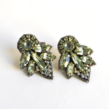 Mint Crystal Earrings - Goldmakers Fine Jewelry