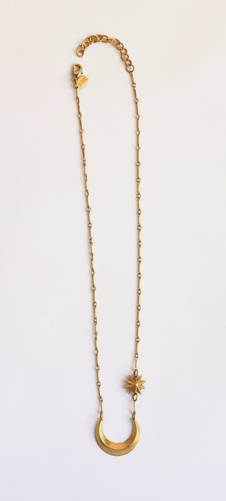 Moon and Star Necklace - Goldmakers Fine Jewelry