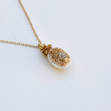 Pineaple Shaker Necklace - Goldmakers Fine Jewelry