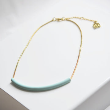 Mint Tube Necklace
