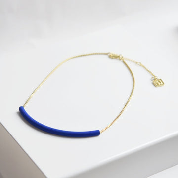 Blue Tube Necklace - Goldmakers Fine Jewelry