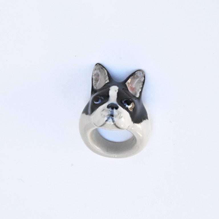 French Bulldog Ring - Goldmakers Fine Jewelry