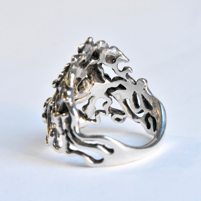 Flowers and Vines Ring in Silver - Goldmakers Fine Jewelry