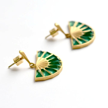 Morocco Mosaic Fan Earrings - Goldmakers Fine Jewelry