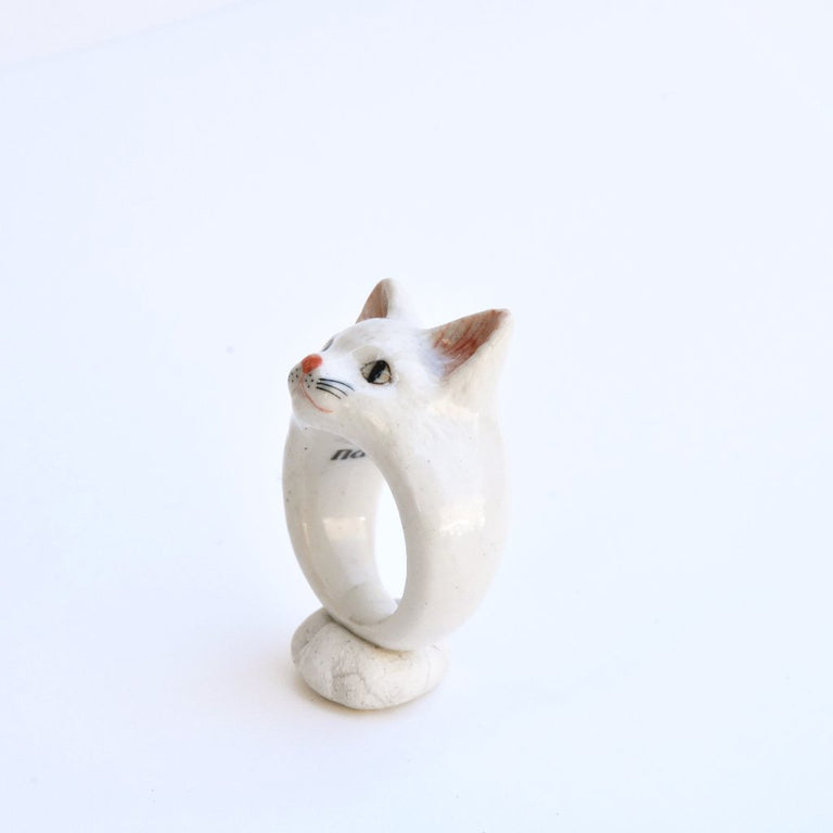 White Cat Ring - Goldmakers Fine Jewelry