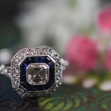 Josephine Sapphire and Diamond Engagement Ring - Goldmakers Fine Jewelry