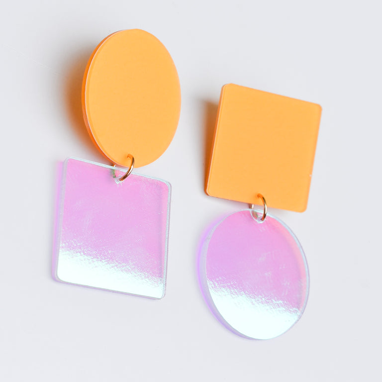 Mellow Asymmetric Earrings - Goldmakers Fine Jewelry