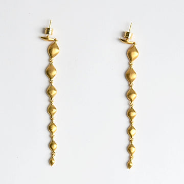 Morocco Sahara Long Earrings - Goldmakers Fine Jewelry