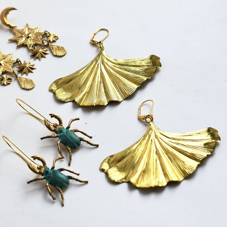 Stag Beetle Earrings - Goldmakers Fine Jewelry