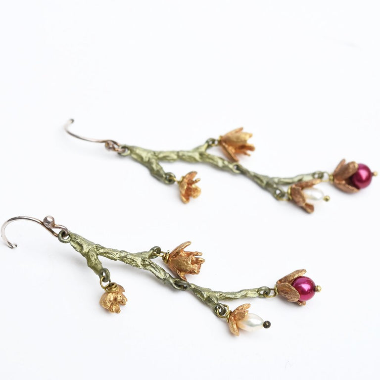 American Cypress Earrings - Goldmakers Fine Jewelry